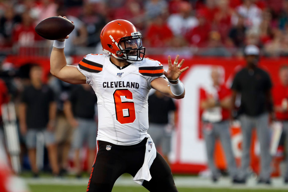 best website 68a05 7f217 Freddie Kitchens on why Baker Mayfield 'wasn't the sharpest ...