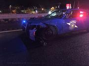 Michigan State Police trooper injured, patrol car totaled in I-94 crash