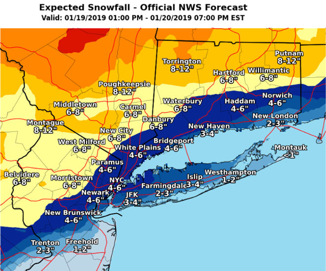 Nj Weather Snow Totals Jump To 12 Inches In Some Areas As