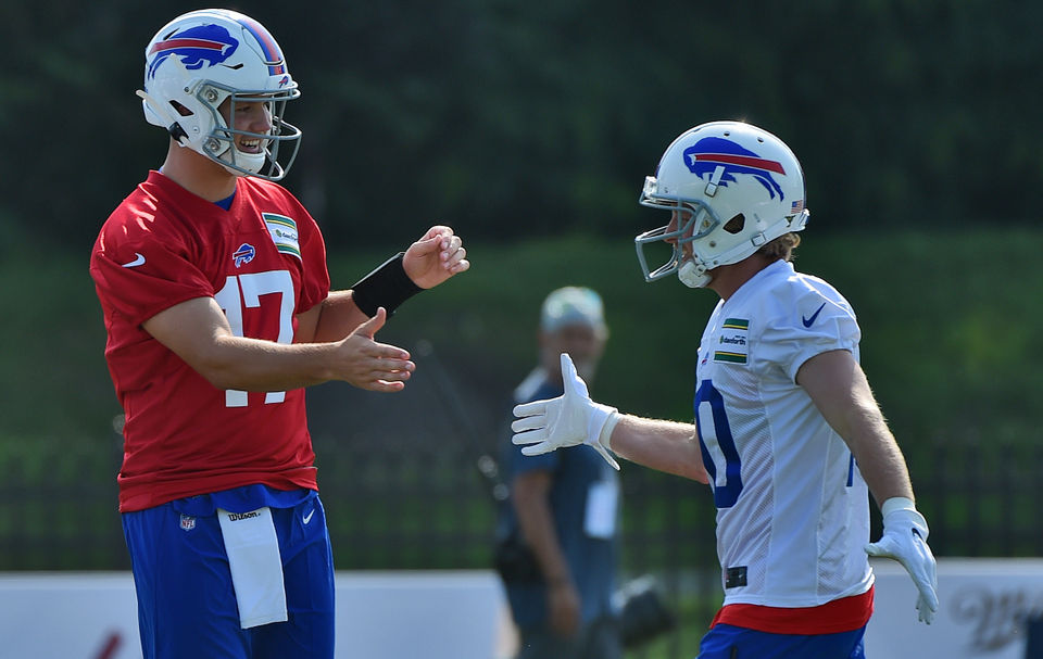 outlet store 46372 ec898 Bills Training Camp 2019: Josh Allen works with Cole Beasley ...