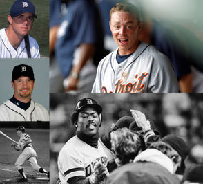 A look at some of the former Detroit Tigers who will appear this season at Fifth Third Ballpark, home of the West Michigan Whitecaps. (Photos from AP and Mark Denhem)