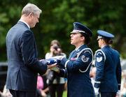 Gov. Charlie Baker gives Memorial Day address at Massachusetts Veterans Memorial Cemetery in Agawam