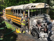 Driver of burning bus salutes 'amazing' kids for staying calm, following training