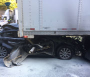 Ludlow woman injured in Mass. Pike accident in Palmer after car drives under tractor trailer