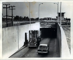 Belle Chasse Tunnel, in 1962.