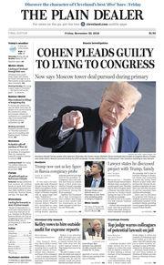 The Plain Dealer's front page for November 30, 2018