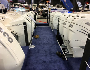 """These Boston Whalers at Clemons Boats all feature outboard motors. That includes the Realm, which owner Jason Clemons calls """"the Swiss Army knife of boats. It does it all, and it does them well."""""""