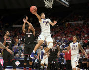 In heated final minutes, LSU basketball team holds off UL-Lafayette for NIT victory