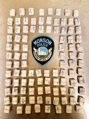 Traffic stop by Monson police yields 1,000 bags of heroin, 4 arrests