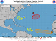 2 depressions could form early next week in Atlantic, hurricane forecasters say
