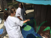 OLPH students help beautify Rivertown
