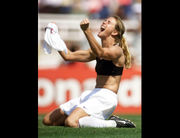 Brandi Chastain Hall of Fame plaque makes soccer star look, um, different (photos)