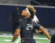 LSU commitment Derek Stingley Jr. plays recruiter at The Opening