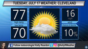 Cooling down, breezy winds and building sun: Cleveland, Akron Tuesday weather