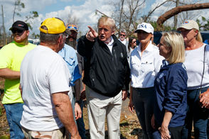 President Trump and first lady Melania Trump surveyed the wreckage of Hurricane Michael on Oct. 15, 2018