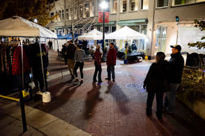 KalamaTopia returns to Kalamazoo with vendors offering merchandise, food, and beverages such as beer and mulled wine.