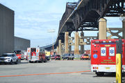 Did chemical spill into Passaic River after forklift accident at warehouse?
