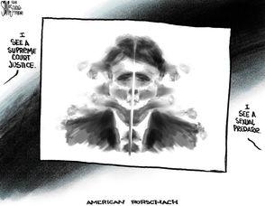 The week in cartoons: Supreme Court nominee accused of sexual assault; China, US swap tariffs; Carolinas under water.