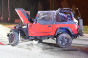 Jeep shears utility pole, rolls in Warren County (PHOTOS)