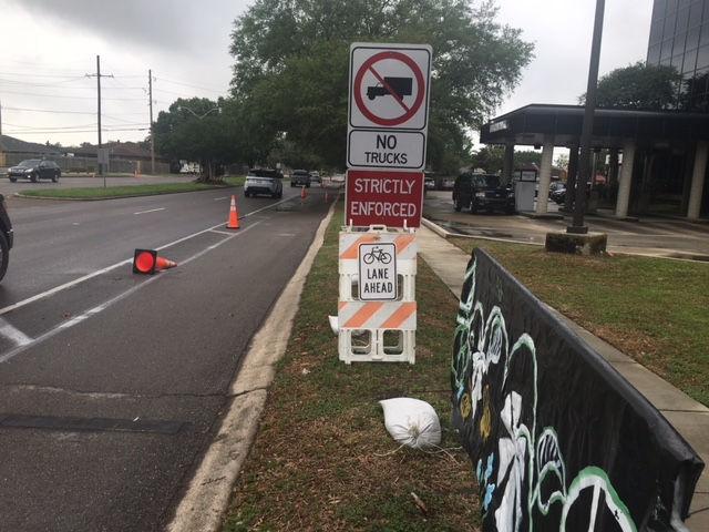 'Pop up' bike lanes installed in Kenner