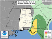 Severe weather threat all but over for Alabama