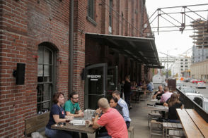 The patio outside BridgePort Brewing at 1313 NW Marshall Street. Stephanie Yao Long/Staff
