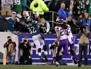 NFC Championship Game: Philadelphia Eagles take 31-7 lead on Minnesota Vikings with some trickery