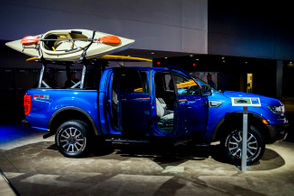 The 2019 Ford Ranger Lariat Supercab at the 2019 North American International Auto Show on Tuesday, Jan. 15, 2019 at Cobo Center in downtown Detroit.