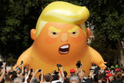 Britain greets Trump with protests, 'Trump Baby' balloon