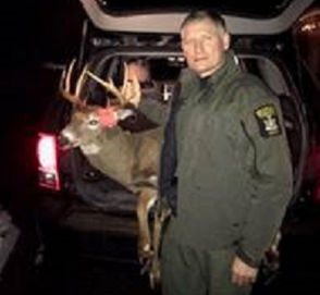 Western NY man was fined $1,712.50 recently by a Chautauqua County judge for shooting deer out of the back seat of a car in June outside of the hunting season and then finishing it off with knife. That incident, along with others involving individuals who were ticketed by state Environmental Conservation officers for various hunting infractions such as hunting and killing deer over bait (see photo) and shooting from one's house, occurred between Nov. 21 and Dec. 3. All specifics below were supplied by the DEC.