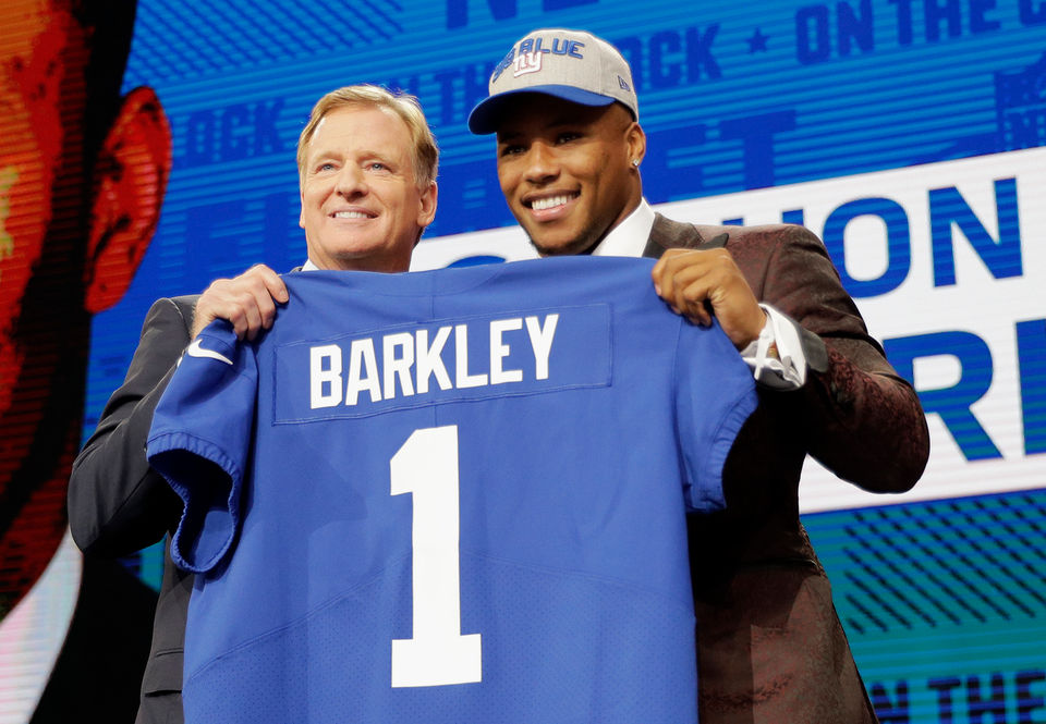 Penn State's Saquon Barkley goes No. 2 to the New York Giants at the 2018 NFL Draft