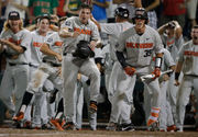 Oregon State baseball's dramatic comeback against Arkansas sets up Game 3 at College World Series finals