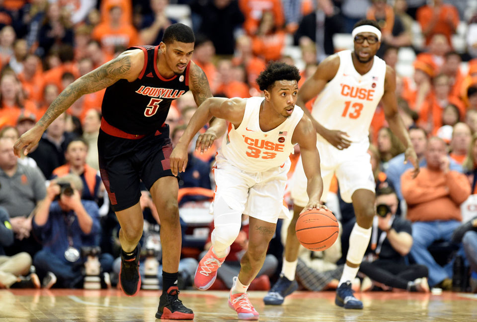 Syracuse Basketball Defeats Louisville 69 49 Brent Axe Recap