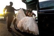 Trenton Central High School students arrive in style for 2018 Prom (VIDEO)