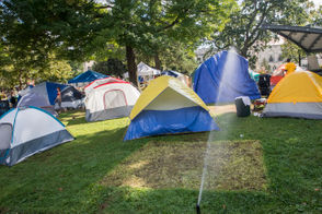The City of Kalamazoo gave a deadline of 7 p.m. Tuesday, Sept. 18 to vacate the park.