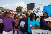 As criminal death investigation begins, Keeven Robinson's mother marches for justice