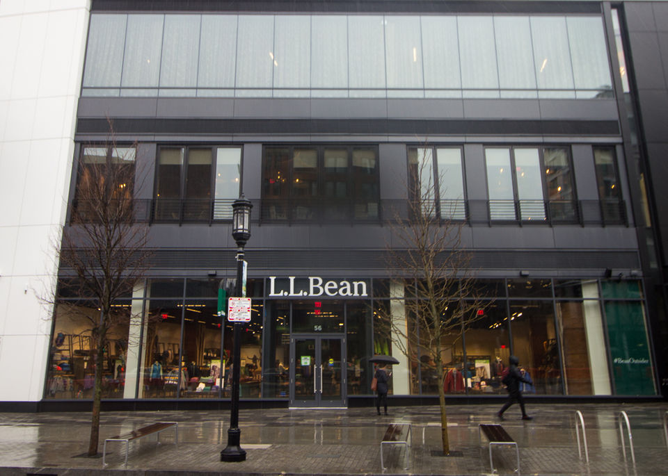 see inside l l bean first urban store in boston seaport store