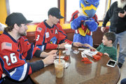 Thunderbirds, Dunkin' Donuts team up for Valentine's Day in Westfield (photos)