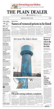 The Plain Dealer's front page for October 3, 2018